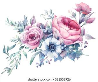 Watercolor Flowers Images Stock Photos Vectors Shutterstock