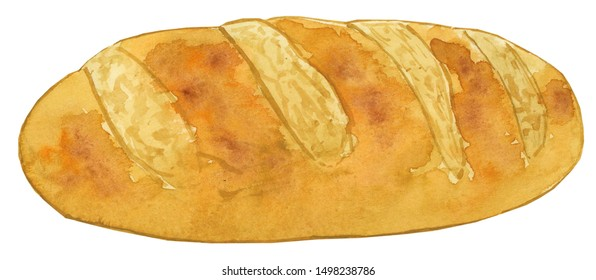 Watercolor Bread Clipart Bread Illustration Stock Illustration 1498238786