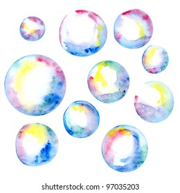 watercolor bubbles illustration