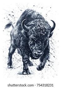Buffalo Tattoo Images, Stock Photos & Vectors | Shutterstock