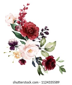Burgundy Flower Images Stock Photos Vectors Shutterstock