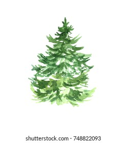 Watercolor Christmas Tree Images Stock Photos Vectors Shutterstock