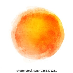 Watercolor circle on white as background
