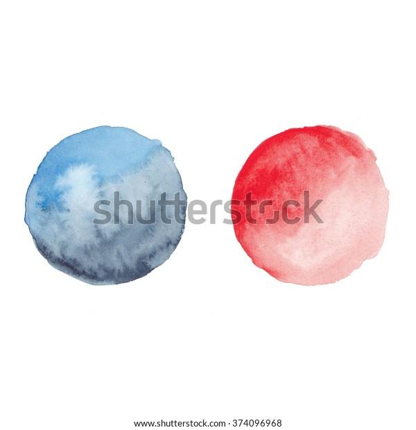 Watercolor Circles Abstract Shapes Watercolor Logo Stock