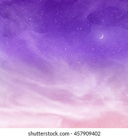 Moon Pink Sky High Res Stock Images Shutterstock