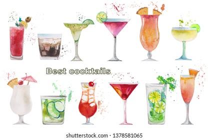 0a059e60a watercolor cocktails illustration