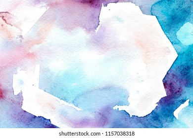 Watercolor cold background for Social Media Design, artistic banners, background of invitation.