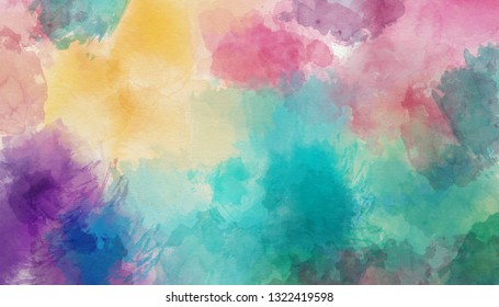 Watercolor colorful abstract background