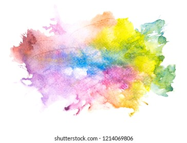 watercolor with colorful shades on white background texture design