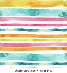 watercolor colorful stripes pattern