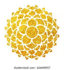 Watercolor crown chakra Sahasrara on the white background - ayurveda, spirituality, yoga symbol. Watercolor illustration, logo, template.