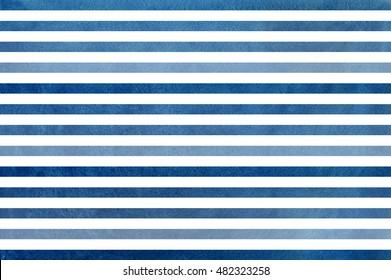 Aquarell, dunkelblauer, gestreifter Hintergrund. Blaues Farbverlauf-Muster.