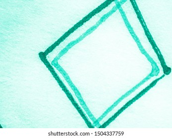 Watercolor Diagonal. Green Geometric Abstract. Neo Mint Vintage Chevron. Hand Painted Brushes. Chevron Background. Watercolour Rhombus. Watercolour Rhombus. Aquamarine Geometric Shapes.