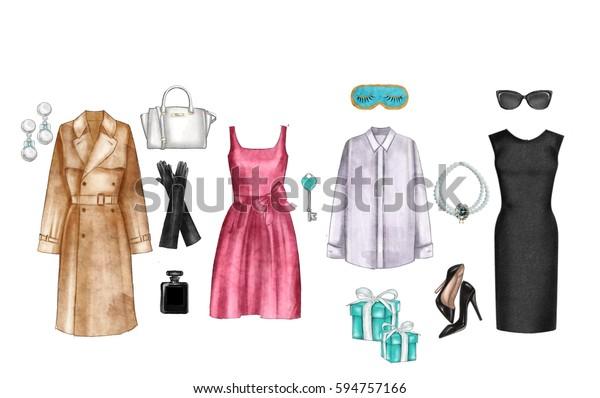 Watercolor Digital Illustration Watercolor Fashion Clip
