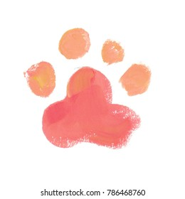 Watercolor Paw Images, Stock Photos & Vectors | Shutterstock