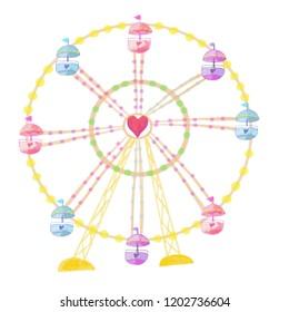 watercolor Ferris wheel
