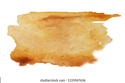 watercolor fill, raw sienna colored, on white background