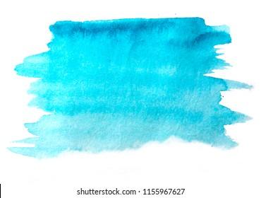 watercolor fill,  ultramarine blue colored, white background