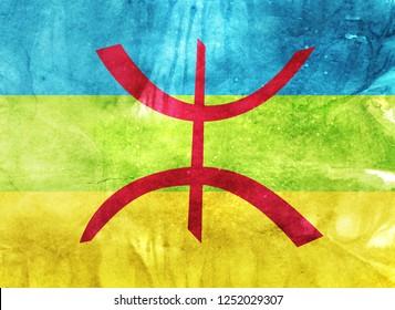 Watercolor flag background. Berber
