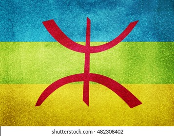 Watercolor flag background. Berber