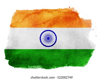 Watercolor flag background. India