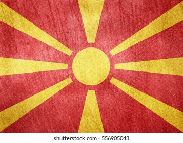 Watercolor flag background. Macedonia