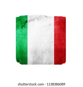 Watercolor flag background on white.  Italy.
