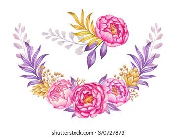 Watercolor Floral Corners Images Stock Photos Vectors Shutterstock