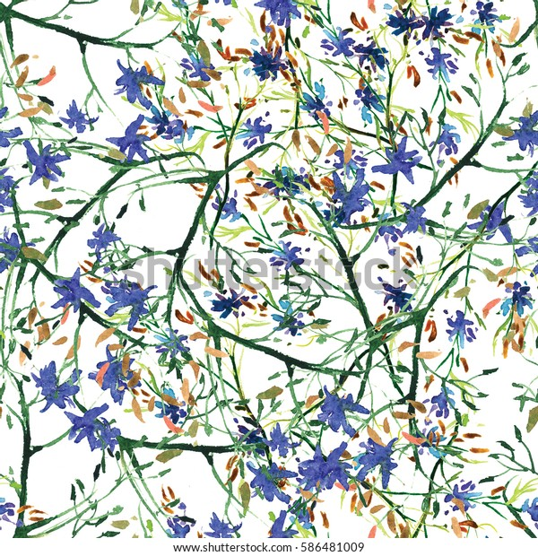 Watercolor Floral Wallpaper Seamless Pattern Background