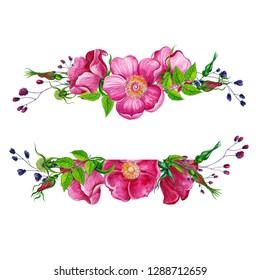 watercolor flower frame