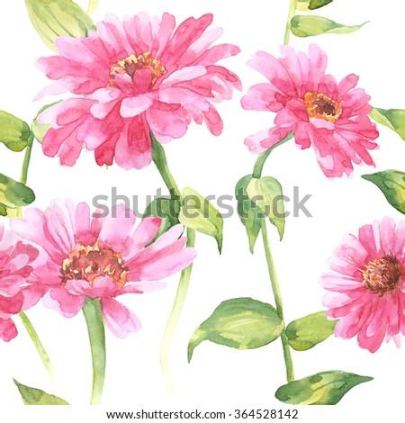 Watercolor flowers design floral pattern on white stock illustration watercolor flowers designfloral pattern on white fabric big pink flowers print fashion mightylinksfo