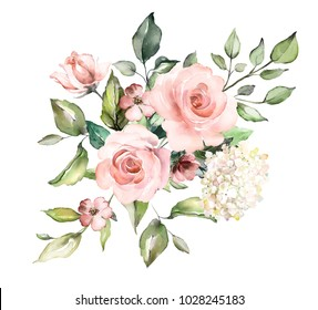 Roses Vintage Watercolor Images Stock Photos Vectors Shutterstock