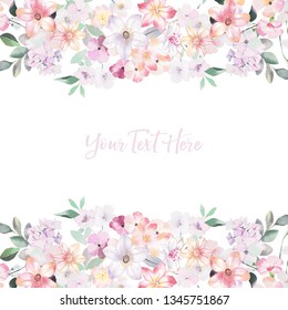 watercolor flowers set, wedding design, birthday and mothers day cards,Watercolor botanical illustration isolated on white background