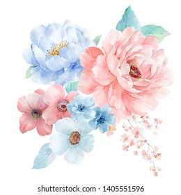 watercolor flowers set,It's perfect for greeting cards,wedding invitation, wedding design,birthday and mothers day cards