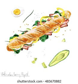 Homemade Turkey Sandwich Stock Illustrations Images Vectors