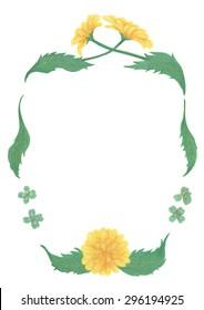 Watercolor Frame Of Dandelion