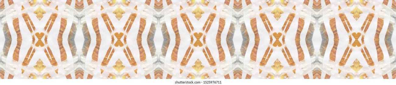 Watercolor Geometric Background. Pastel Brown, Pink Blue Seamless Texture. Abstract Shibori Print. Repeat Tie Dye Rapport. Ethnic Persian Motif. Ikat Watercolor Geometric BG.