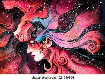 Peinados Jovenes Stock Illustrations Images Vectors Shutterstock