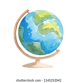 Watercolor Globe illustration School globe