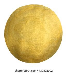 Watercolor gold circle