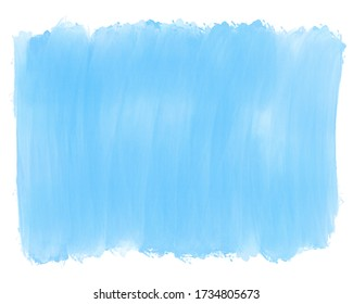 Watercolor gradient blue color backdrop background for design. hand drawn abstraction spot of bluish watercolor paint, stripes and brush stains. Light transparent saturation change effect