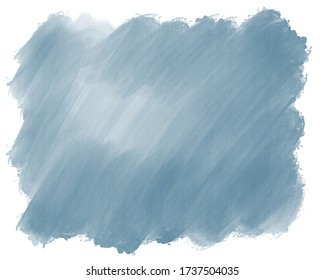 Watercolor gradient classic blue gray color backdrop background for design. hand drawn abstract spot of grayish bluish watercolor paint, stripes and stains brushes
