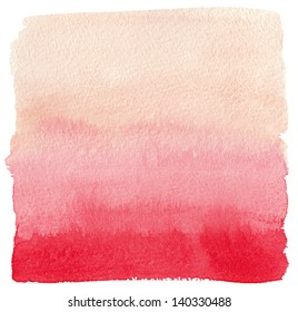 Watercolor gradient red to pink background.