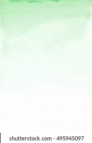 Watercolor green ombre texture. Beautiful watercolor background for wedding design and scrapbooking projects. Watercolor wash