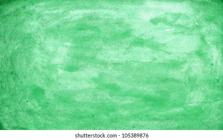 Watercolor green texture backdrop. Color abstract aquarelle background. Handmade technique wallpaper.