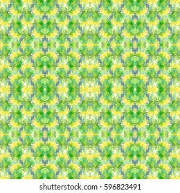 Watercolor green and yellow abstract pattern.