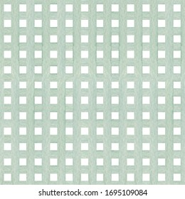 Watercolor hand drawn checkered seamless pattern with stripes in warm blue color isolated on white background. Good for textile, background, wrapping paper etc.
