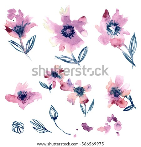 Royalty Free Stock Illustration Of Watercolor Hand Painted