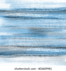 Watercolor hand painted brush strokes Abstract blue background. Light blue aquarelle sky.