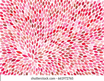Watercolor hand painted feathers like elements. Colorful light cute seamless pattern